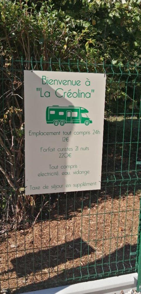 Accueillant CCH camping-car à Jonzac - Charente Maritime (17)